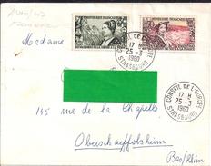 YT 1246 (COTE/1247  SL  FR  OBLI 1° JOUR EMISSION CONSEIL EUROPE 25/3/60 (COTE  19.50) - Marcophilie (Lettres)