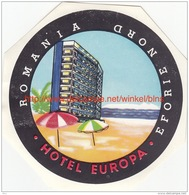 Hotel Europa Eforie Nord Romania - Etiquettes D'hotels
