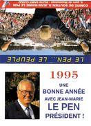 CALENDRIER POLITIQUE JEAN-MARIE LE PEN ELECTION PRESIDENTIELLES 1995 - Calendari