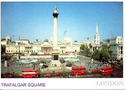ANGLETERRE. Carte Postale écrite. Trafalgar Square.
