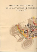 "CITROEN C4 F ""Schéma De L' Installation Electrique "" - Machines"