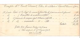 Reçu Compte D'un Résidant De Court-Saint-Etienne En 1902 Pour Livraison Et Travaux De Maçonnerie PR4510 - 1900 – 1949