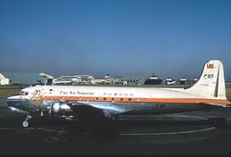 Aviation Postcard-685 - CAT Civil Air Transport DC-4 - 1946-....: Moderne