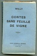 Curiosa Willy Contes Sans Feuille De Vigne 1928 - Livres, BD, Revues