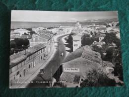 CARTOLINA  - FALCONARA M VILLANOVA E LA FLAMINIA ANIMATA     B  1870 - Ancona