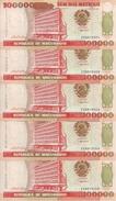 MOZAMBIQUE 100000 METICAIS 1993 UNC P 139 ( 5 Billets ) - Mozambique