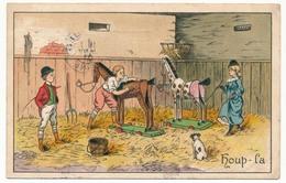 CPA - Illustrateur ? - Enfants Dans Une écurie, Chevaux De Bois (The Sportsman) - 1900-1949