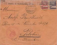 Suisse Lettre Censurée Pour Le Brésil 1915 - Marcofilia