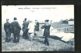 CPA Nancy, Atterissage, Les Félicitations à Abrun, Flieger - Nancy