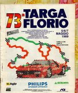 X 73 TARGA FLORIO 1989 RALLYE INT.LE  TABELLA TEMPI E DISTANZE  IP 16  PAG. - Automobilismo - F1