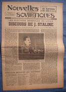 NOUVELLES SOVIETIQUES : 1946 : STALINE . MOLOTOV . ELECTIONS . - Giornali