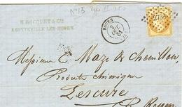 LETTRE BOCQUET DE SOTTEVILLE LES ROUEN POUR LESCURE 1861 - 1849-1876: Période Classique