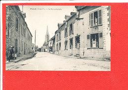 35 PANCE Cpa Animée La Rue Principale - Frankreich