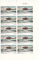 Greenland MNH 2014 Block Of 10 41k Bell 212 Helicopter - Civil Aviation - Groenland