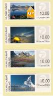 Greenland MNH 2014 Strip Of 4 ATM Stamps Denominated 10k - Greenland