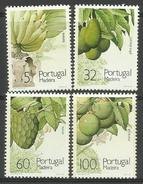 Madeira - 1990 Fruits & Plants Set Of 4  MNH **     Sc 139-42 - Madeira