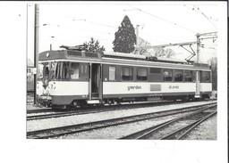 16580 -  Train Be 4/4 3 Au Dépôt D'Yverdon Edition BVA (format 10X 15) - VD Vaud