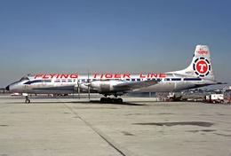 Aviation Postcard-719 - FLYING TIGER Canadair CL-44 - 1946-....: Moderne