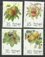 Madeira - 1991 Fruits & Plants Set Of 4  MNH **     Sc 153-6 - Madeira