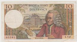 10 FRANCS VOLTAIRE . K.3-2-1972.K.       S.747    .      95591 - 10 F 1963-1973 ''Voltaire''