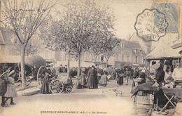 CPA 37 PREUILLY SUR CLAISE LE MARCHE 1905 Belle Animation - France