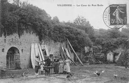 CPA 37 VILLEDIEU LES CAVES DU PONT BODIN - France