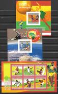 Comores 1 Feuillet + 2 Blocs ND/imperf/B CM 2010 **