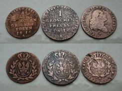 3 X 1Groschen 1816,1810A,1797 B Posen - Brandenburg Preussen Bitte Lesen !   (A242) - [ 1] …-1871 : Estados Alemanes