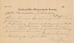 Schweden 1880 Eisenbahn Oxelösund - Flen - Westmanlands Fernväg - Eisenbahnverkehr