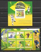 Comores 1 Feuillet + 1 Bloc Joueurs Brésiliens ND/imperf/B **