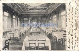 70922 ITALY GENOVA LIGURIA PUBLICITY GRAND HOTEL RESTAURANT RIGHI INTERIOR CIRCULATED TO ARGENTINA POSTAL POSTCARD - Non Classés
