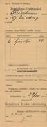Schweden Gössäter 1896 Eisenbahn Jernvägs - Fraktsedel Frachtbrief - Eisenbahnverkehr