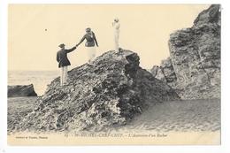 SAINT MICHEL CHEF CHEF  (cpa 44)  L'ascension D'un Rocher -   - L 1 - France