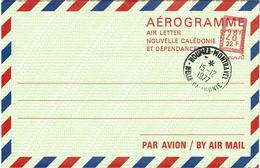 BR39 - NOUVELLE CALEDONIE - AEROGRAMME N°4 OBLITERATION PHILATELIQUE NOUMEA MONTRAVEL 15/12/1977 - Luftpost