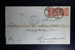 Germany  Cover  Berlin N.Q. -> Allemagne Pag Paris -> Meursault France  1876   ??? - Deutschland