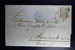Germany  Complete Letter  Stettin -> Allemagne Erq Paris -> Meursault France  1877 Wax Seal - Deutschland