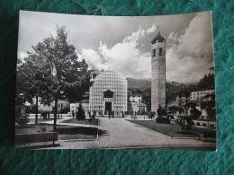 CARTOLINA  -  RECOARO TERME PIAZZA DOLOMITI E CHIESA    B  1897 - Vicenza