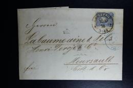Germany  Complete Letter  Arnstadt -> Allemagne Paq Paris -> Meursault France  1878 - Deutschland