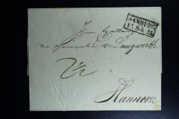 Hamburg Complete Letter 1821  -> Hannover Ka. Stempel 15-2-1821  Wax Seal - Hamburg