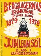 Schweden Eisenbahn Göteborg - Falun 1979 Lokomotive Bieretikett Jubileumsöl - Eisenbahnverkehr