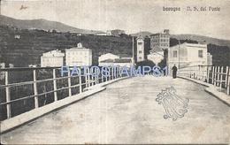 70932 ITALY LAVAGNA GENOVA BRIDGE VIEW PARTIAL CIRCULATED TO ARGENTINA POSTAL POSTCARD - Italien