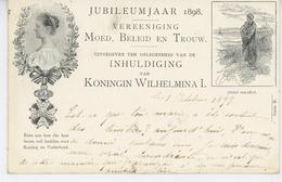 PAYS BAS - JUBILEUMJAAR 1898 - KONINGIN WILHELMINA I. (postée En 1899 ) - Entiers Postaux