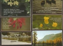 6 CART. NATURA FRASE IN LINGUA TEDESCA - Cartoline