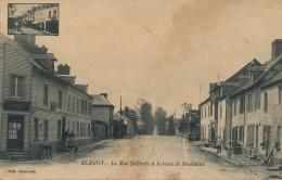 G105 - 76 - BLANGY - Seine Maritime - La Rue Saint-Denis Et La Route De Neuchâtel - Blangy-sur-Bresle