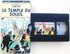 CASSETTE VIDEO VHS SECAM TINTIN LE TEMPLE DU SOLEIL DUREE 80 MN ENV. DESSIN ANIME D APRES HERGE - Dessins Animés
