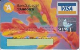 TARJETA DE BANCO DE ANDORRA DEL BANCO DE SABADELL (CREDITCARD-BANK-VISA) RARA