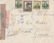 ESPAÑA 1938 Carta De PREMIA DE MAR  2a COMPANIA CARABIÑEROS  Hasta  Bordeaux   EL512