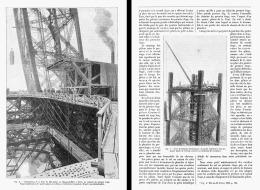 LA TOUR EIFFEL  ( Les Travaux En 1888 ) (1) - Sciences & Technique