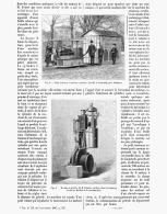 """LE MOTEUR à PETROLE """" DAIMLER """"   1888 - Voitures"""