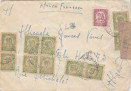 ESPAÑA 1938 Carta De BURJAS BLANCAS LERIDA   BASE TURIA 3 TRANSMISIONES  Hasta  Alger    EL514 - 1931-Hoy: 2ª República - ... Juan Carlos I
